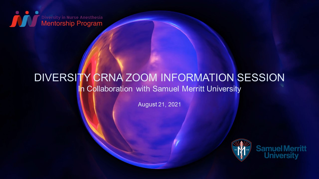 Diversity CRNA Zoom Information Session in Collaboration with SMU - 8.21.2021